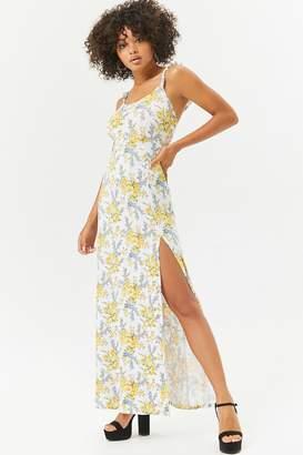 Forever 21 Floral Maxi Slit Dress