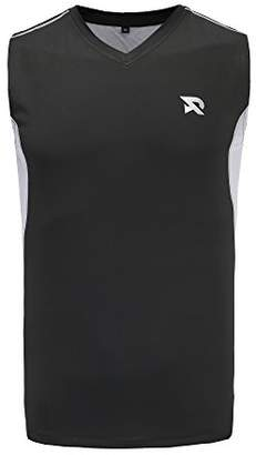 RADHYPE Men's Polyester Classic Fit Athletic Sleeveless T-Shirt Training Basic Tank Top L