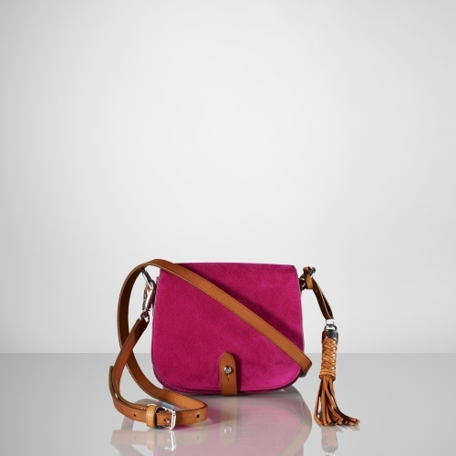 Ralph Lauren Suede Mini-Saddle Bag