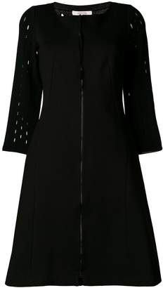 Schumacher Dorothee fitted waist front zip 3/4 sleeved dress