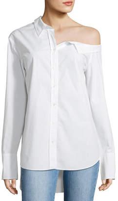 A.L.C. Wesley Off-One-Shoulder Cotton Top