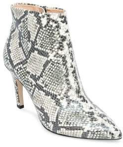 Design Lab Blair Snake Print Booties