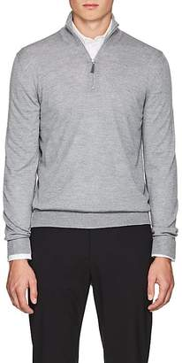 Barneys New York Men's Virgin Wool Half-Zip Sweater