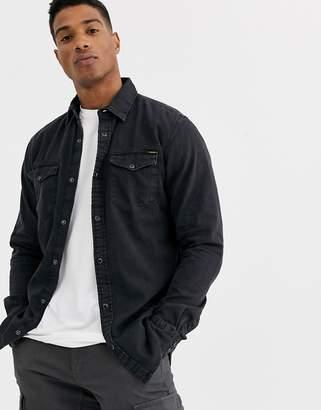 Jack and Jones Essentials denim shirt in black