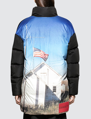 Calvin Klein Jeans Est.1978 Back Printed Down Puffer Jacket