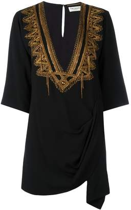 Saint Laurent metallic embroidered kaftan