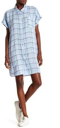 Allen Allen Short Sleeve Linen Shirt Dress