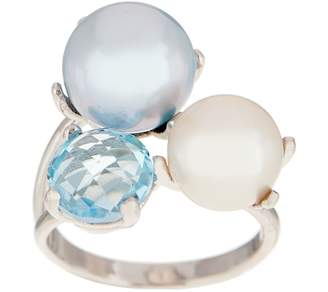 Honora Cultured Pearl & Gemstone Ring, Sterling Silver