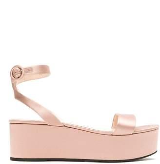 Prada open toe platform sandals
