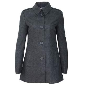 Lee Cooper Womens Smart Wool Blend Coat Duffle Top Jacket Warm