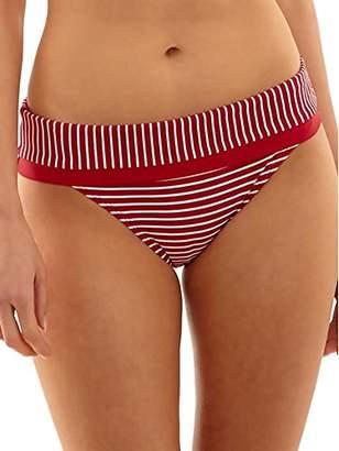 Panache Women's Britt Stripe High Waist Bikini Bottom