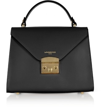 Le Parmentier Peggy Leather Top Handle Satchel Bag