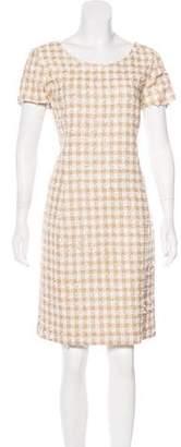 Oscar de la Renta Tweed Embellished Dress