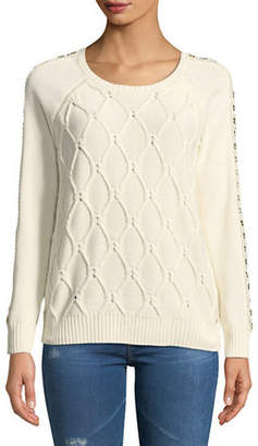 Tommy Hilfiger Grommet Cable Sweater
