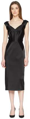 Zac Posen Stretch Satin Sleeveless Dress Women's Dress