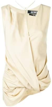 Jacquemus asymmetric draped top