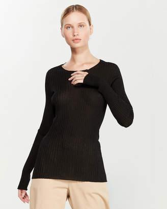 Liviana Conti Ribbed Lurex Sweater