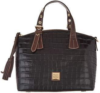 Dooney & Bourke Croco Embossed Leather Trina Satchel