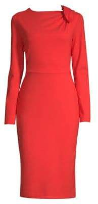 Escada Demina Knotted Jersey Sheath Dress