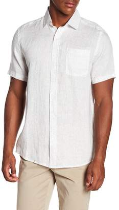 Trunks Surf and Swim CO. Printed Relaxed Fit Short Sleeve Linen Shirt