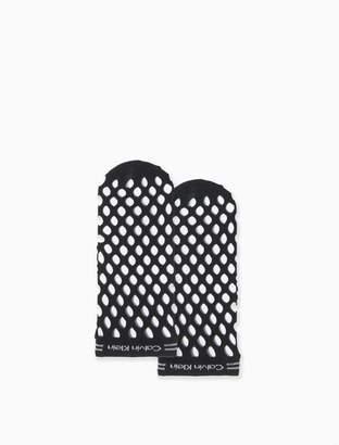 Calvin Klein perforated logo ankle socks