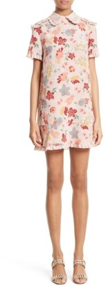 Women's Red Valentino Floral Print Silk Dress $875 thestylecure.com