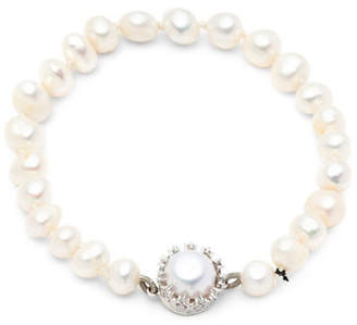 Carolee Rise Shine Fresh Water Pearl Single Row With C Filigree Magnet Bracelet