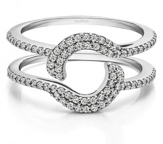 TwoBirch Total Halo Wrap Guard Enhancer in Sterling Silver (0.37ctw)