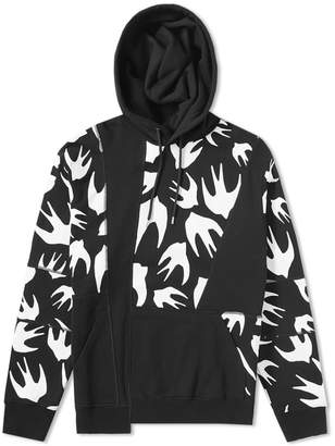 McQ Swallow Swarm Cut-Up Hoody