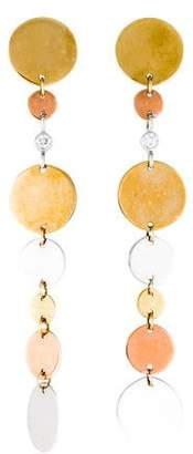 Lana 14K Diamond Disc Drop Earrings