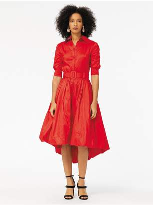 Oscar de la Renta Silk-Taffeta Cocktail Dress