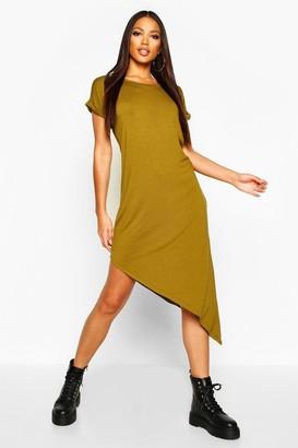 boohoo Asymmetric T-Shirt Midi Dress
