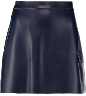 MSGM Faux Leather Mini Skirt