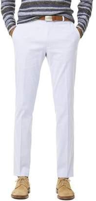 Todd Snyder White Label Fine Corded Cotton Stripe Sutton Suit Pant in Blue
