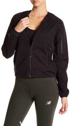 New Balance Moisture Resistant Collarless Bomber Jacket