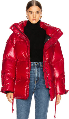 Acne Studios Ophira Down Jacket in Dark Red | FWRD