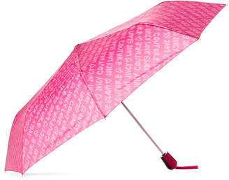 Juicy Couture Auto Open Pink Logo Umbrella