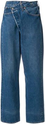 R 13 asymmetric boyfriend jeans