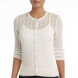 MNG by Mango Bold Elements Cardigan, Sheer Button Front