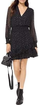 MICHAEL Michael Kors MICHAEL Metallic Dot Ruffled Dress