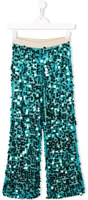La Stupenderia sequinned wide leg trousers