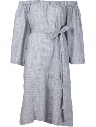 Lisa Marie Fernandez low shoulders belted dress $790 thestylecure.com