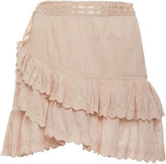 LoveShackFancy Ophelia Mini Skirt