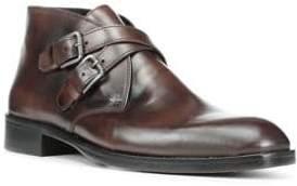 Donald J Pliner Monk Strap Leather Boots