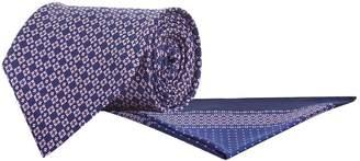 Stefano Ricci Tile Print Silk Tie and Pocket Square