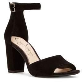 Jessica Simpson Sherron Suede Block Heel Sandals