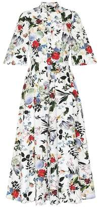Erdem Adrienne floral cotton midi dress