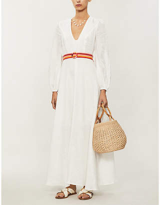 Zimmermann Goldie V-neck linen maxi dress