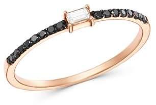 Black Diamond OWN YOUR STORY 14K Rose Gold Linear Baguette & Ring