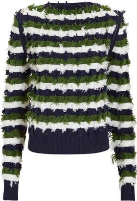 Sonia Rykiel Zip Detail Striped Pullover